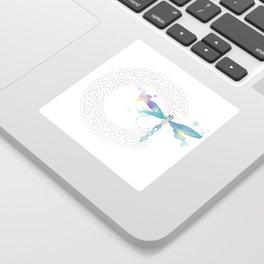 Celtic Knot Dragonfly Sticker