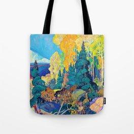 12,000pixel-500dpi - Franklin Carmichael - Autumn Hillside - Digital Remastered Edition Tote Bag