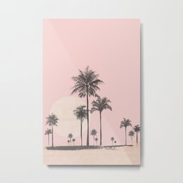 Tropical Sunset In Peach Coral Pastel Colors Metal Print