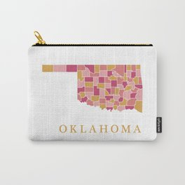 Oklahoma map Carry-All Pouch