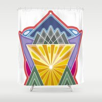 crown Shower Curtains featuring Crown by Losal Jsk