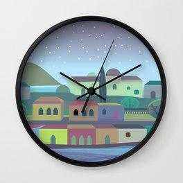 Bordeaux Night Wall Clock