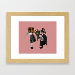 Potret Love Story Framed Art Print