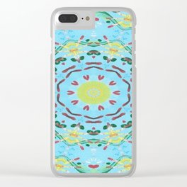 """"""" Hearts And Flowers """" Clear iPhone Case"""