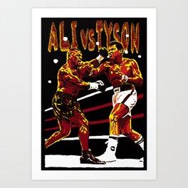 ALI vs TYSON Art Print