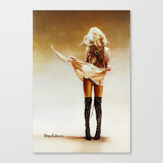 Con faldas y a lo loco! Canvas Print