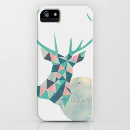 I'd rather be a deer iPhone Case