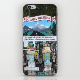 Watson_Lake Sign-Post Forest, YT, Canada iPhone Skin