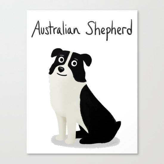 Australian Shepherd - Cute Dog Series Canvas Print
