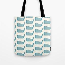 Golf Club Head Vintage Pattern (Beige/Blue) Tote Bag