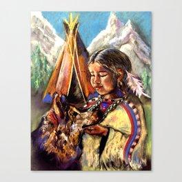 October Communication Goddess Canvas Print