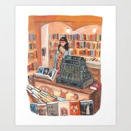 The Corner Bookstore Art Print