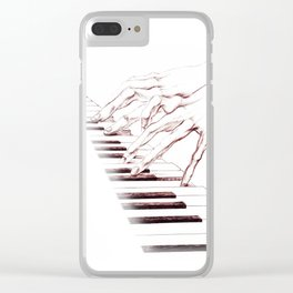 Piano hands Clear iPhone Case