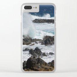 Caribbean wave Clear iPhone Case