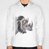 rhino Hoodies featuring rhino by Svenningsenmoller Design