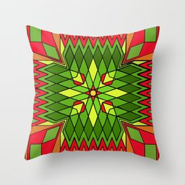 Poinsettia Flower Throw Pillow