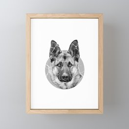 Ears Up System Armed Dog Pet Lover Or Dog Trainer Gift Framed Mini Art Print