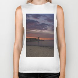 Front Beach After sunset Biker Tank