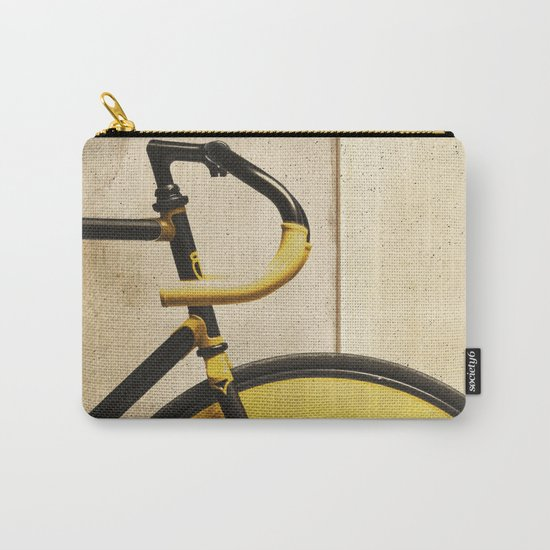 Bike With Yellow Details Carry-All Pouch