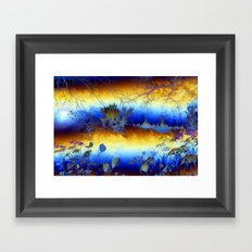 ABSTRACT - My blue heaven Framed Art Print