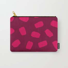 Raspberry Brushstrokes Carry-All Pouch