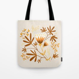 Warm Tones Floral Design Tote Bag