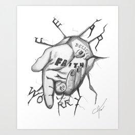 Jesus - Take My Helping Hand Art Print