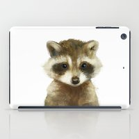 wildlife iPad Cases featuring Little Raccoon by Amy Hamilton