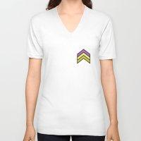 chevron V-neck T-shirts featuring Chevron by Nick Ellsworth