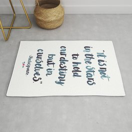 Shakespeare Quote Rug