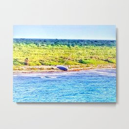 Shipwrecked in Paradise Metal Print