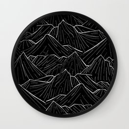 The Dark Mountains Wall Clock