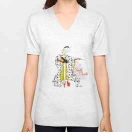 Dis Fashion, Cruella Unisex V-Neck