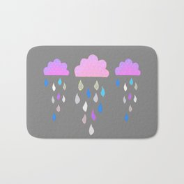 Rain Clouds Bath Mat