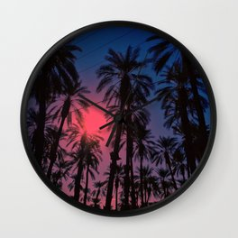 Put your palms together.  Wall Clock