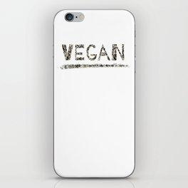 Vegan Black Design iPhone Skin