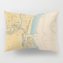 Vintage Map of Milwaukee WI (1947) Pillow Sham