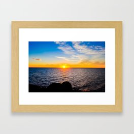 Puerto Peñasco, Mexico Sunset Framed Art Print
