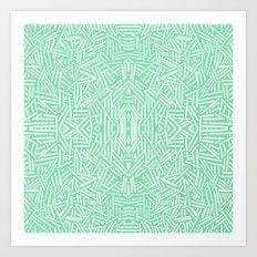 Radiate (Celadon) Art Print