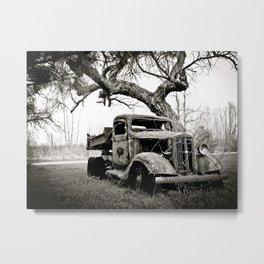 Vintage Creepy Pickup Truck Metal Print
