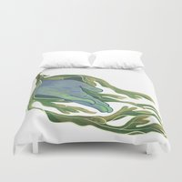 let it go Duvet Covers featuring Let Go by Rhea Ewing
