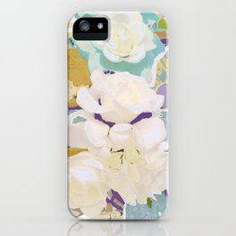 Mirrored White Rose iPhone Case
