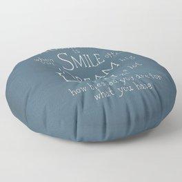 Smile,Dream,Laugh - Inspirational quote Floor Pillow