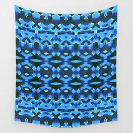 Rhythmic Blue Deep Tribal Song Wall Tapestry