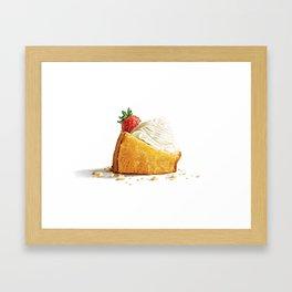 Golden Milk Cake Framed Art Print