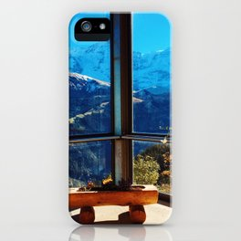 Swiss Alps Looking Glass iPhone Case