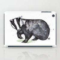 badger iPad Cases featuring Badger by ZOO (William Redgrove)