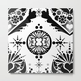 black pattern 8 Metal Print