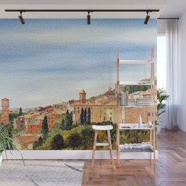 Assisi Italy with Basilica Of San Francesco Wall Mural