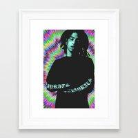 tye dye Framed Art Prints featuring Rob Tye Dye  by POSH OUTSIDERS